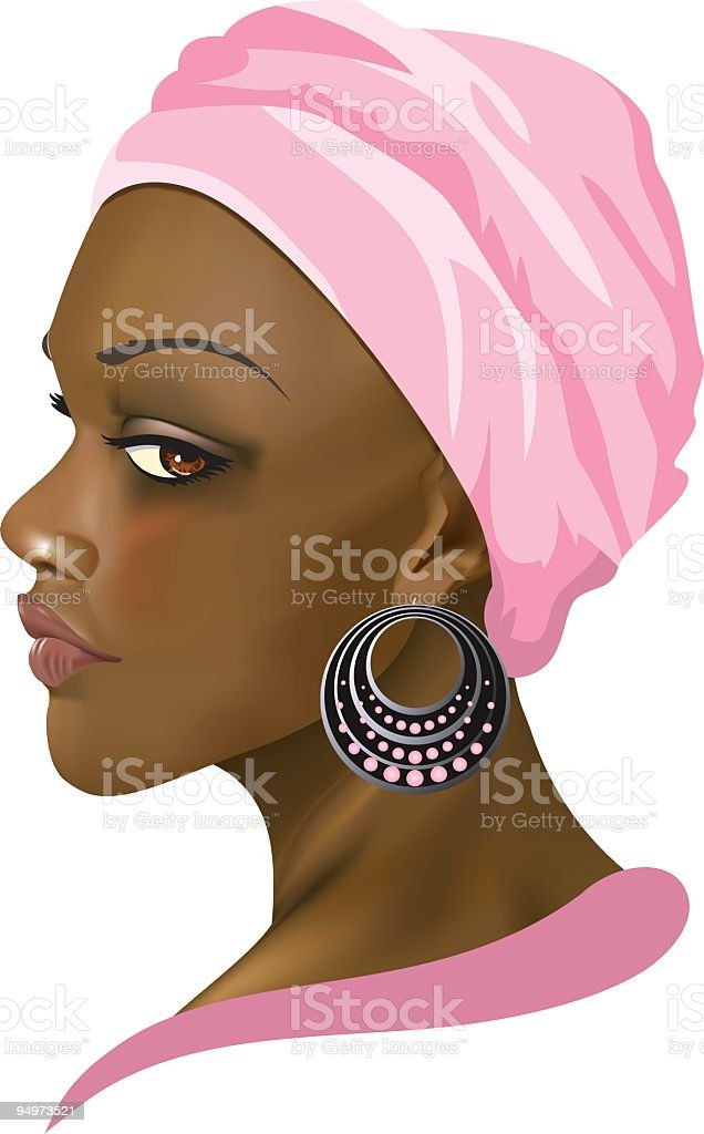 African American Woman Illustration royalty-free stock vector art