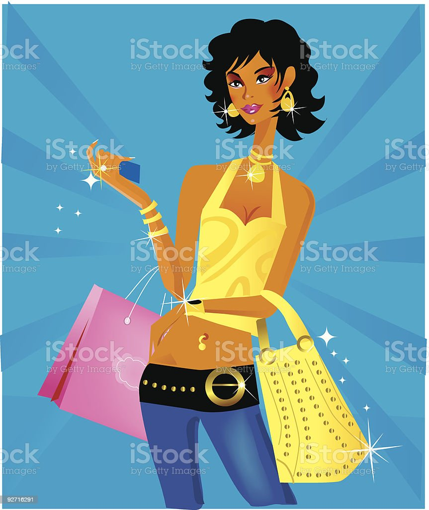 African american woman royalty-free stock vector art