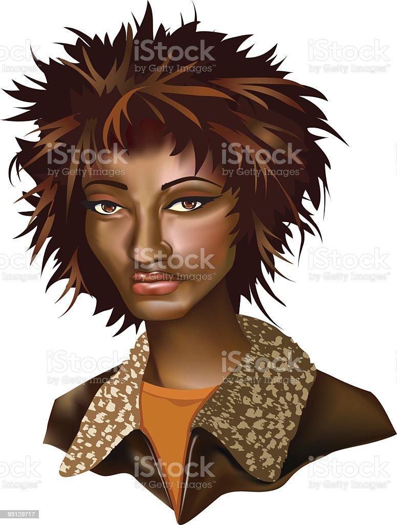 African American Woman vector art illustration