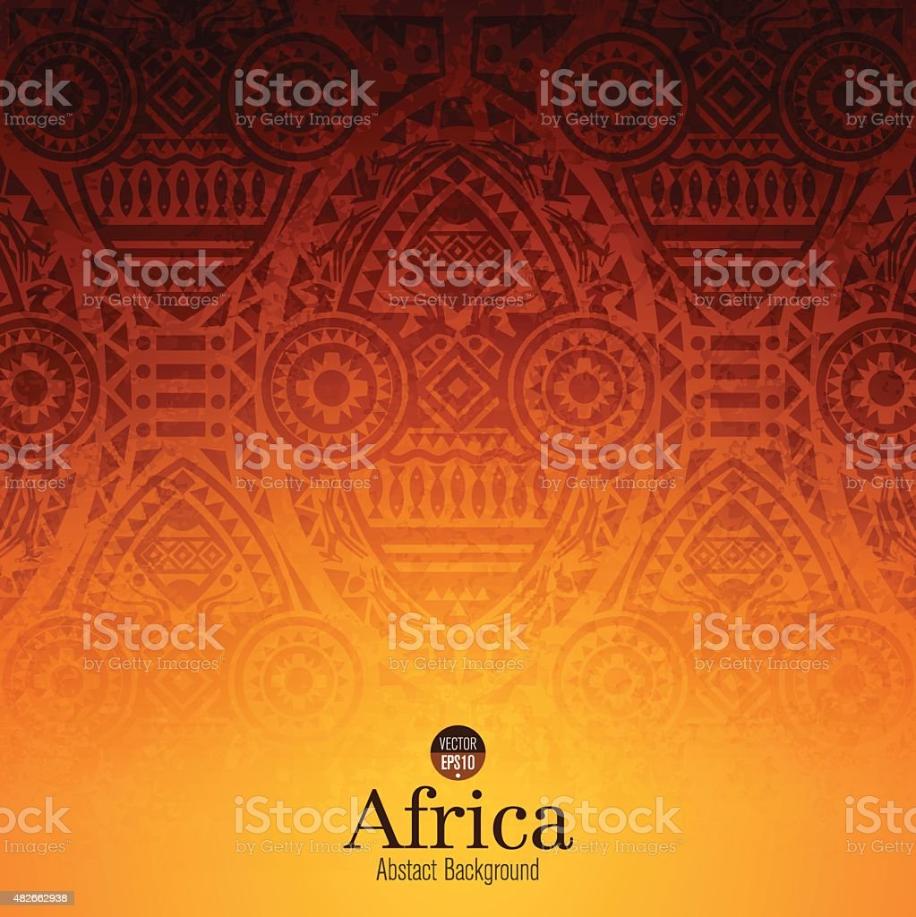African art background design. vector art illustration