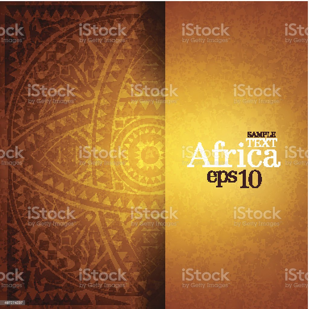African background design template. vector art illustration