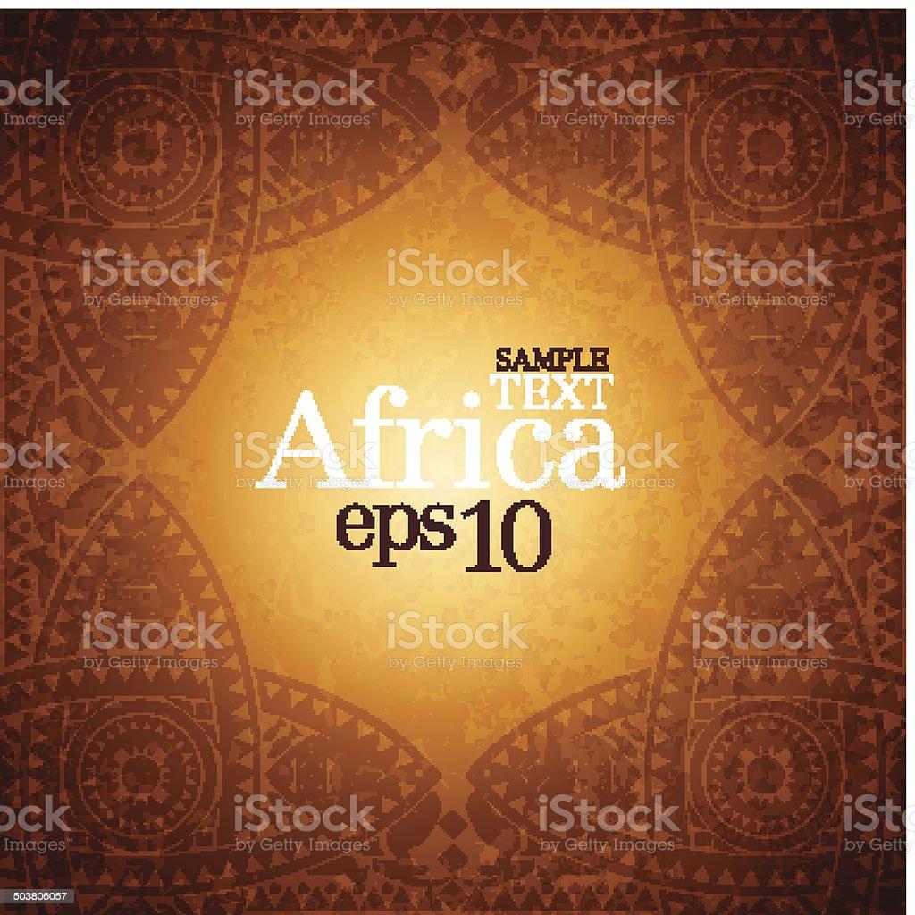 African background design template. vector art illustration