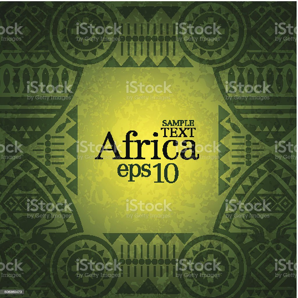 African background. vector art illustration