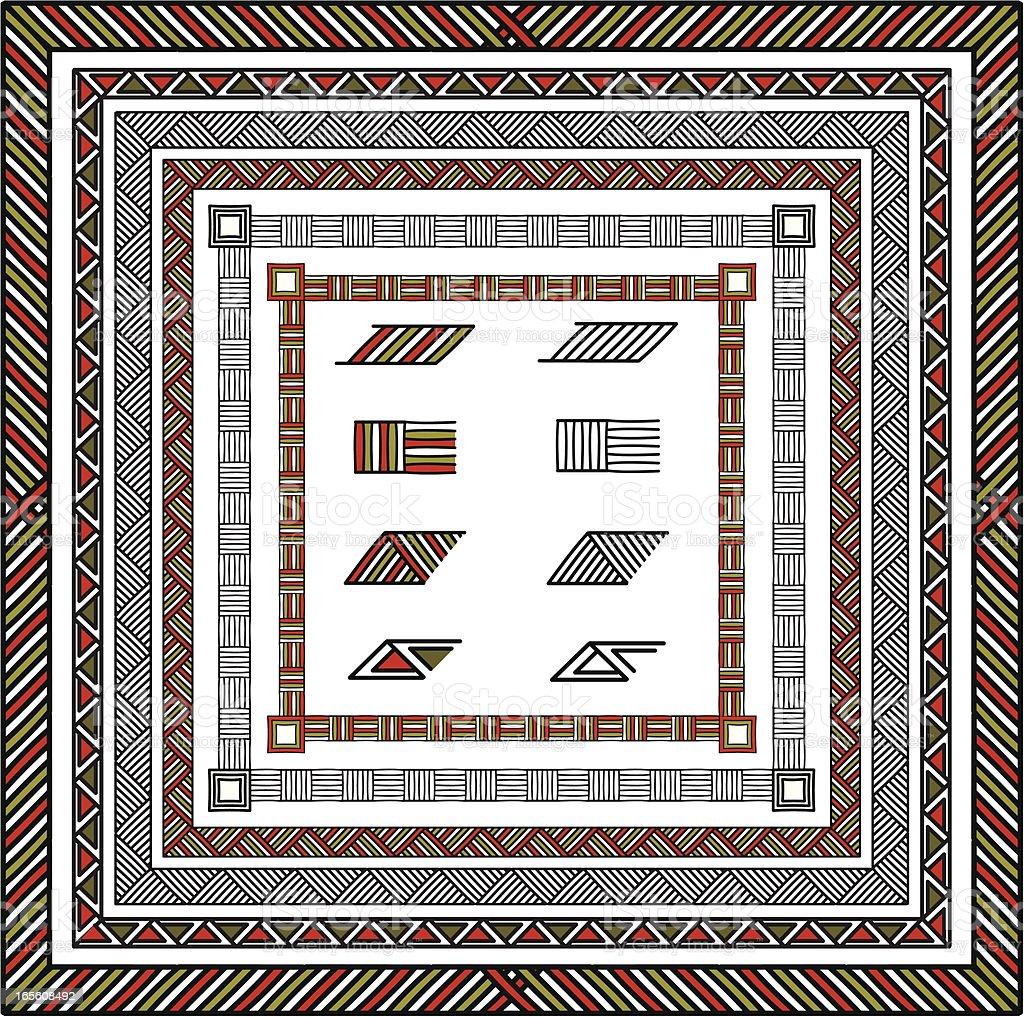 African borders royalty-free stock vector art
