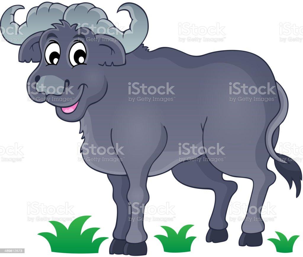 African bull image 1 vector art illustration