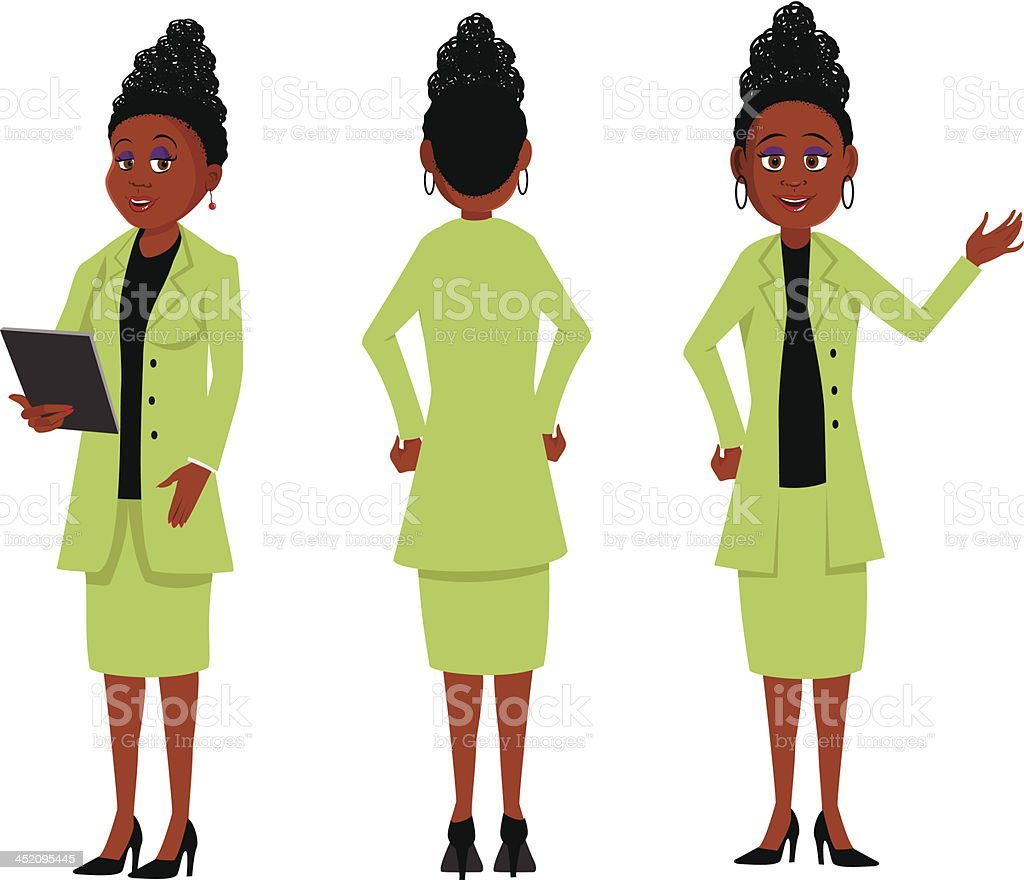 African businesswoman royalty-free stock vector art