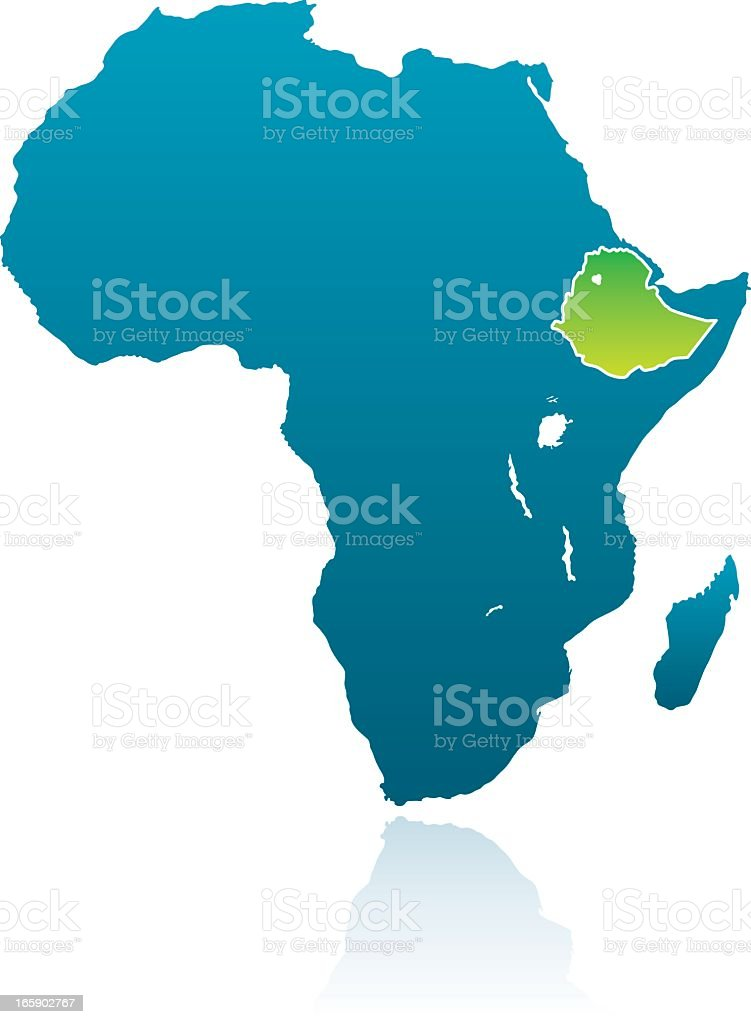 African Countries: Ethiopia royalty-free stock vector art
