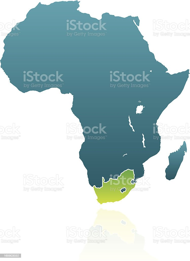 African Countries: South Africa vector art illustration