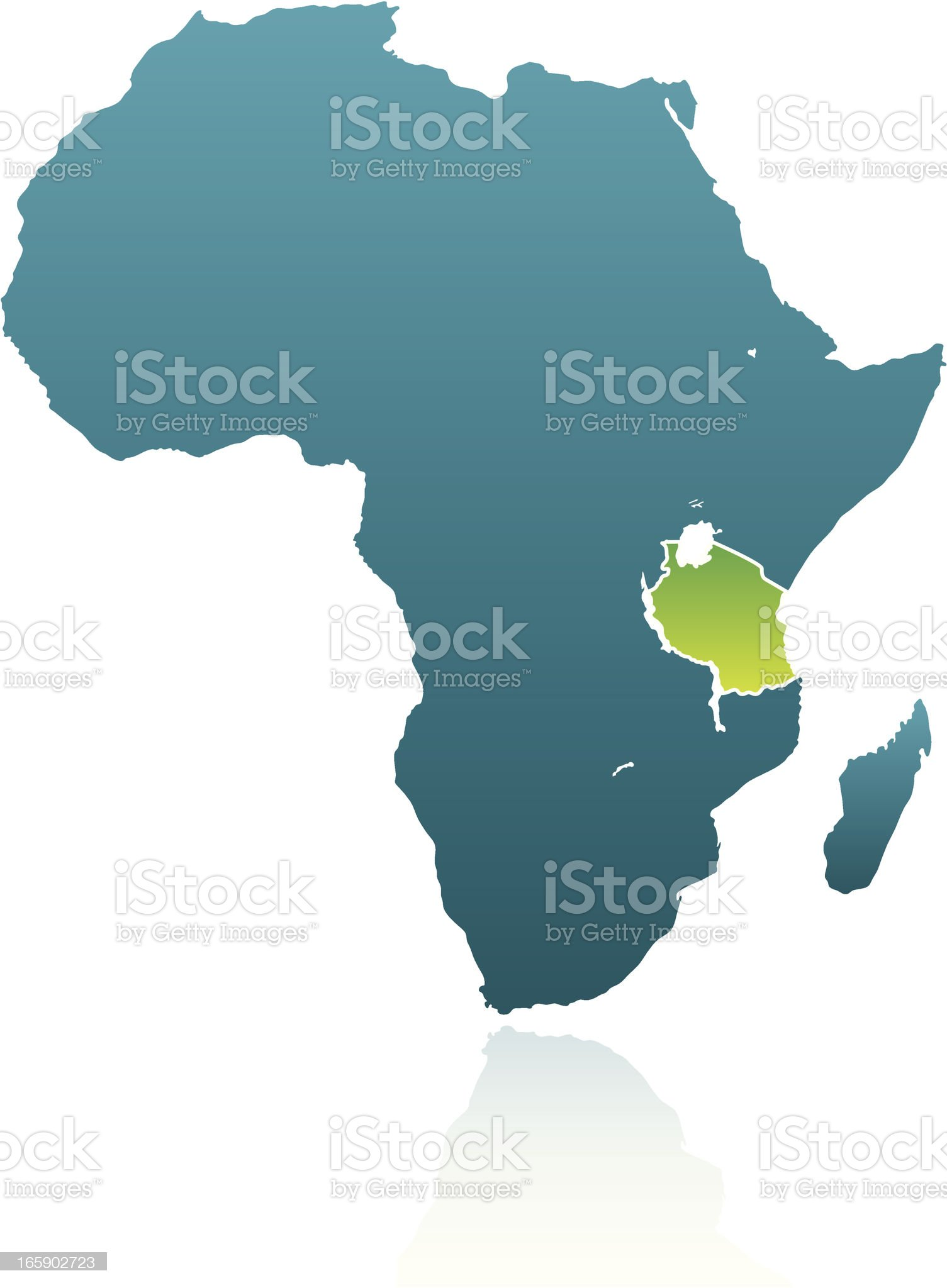 African Countries: Tanzania royalty-free stock vector art