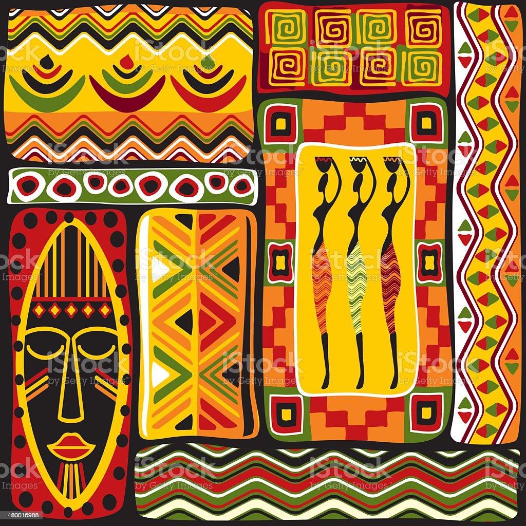 African design elements vector art illustration