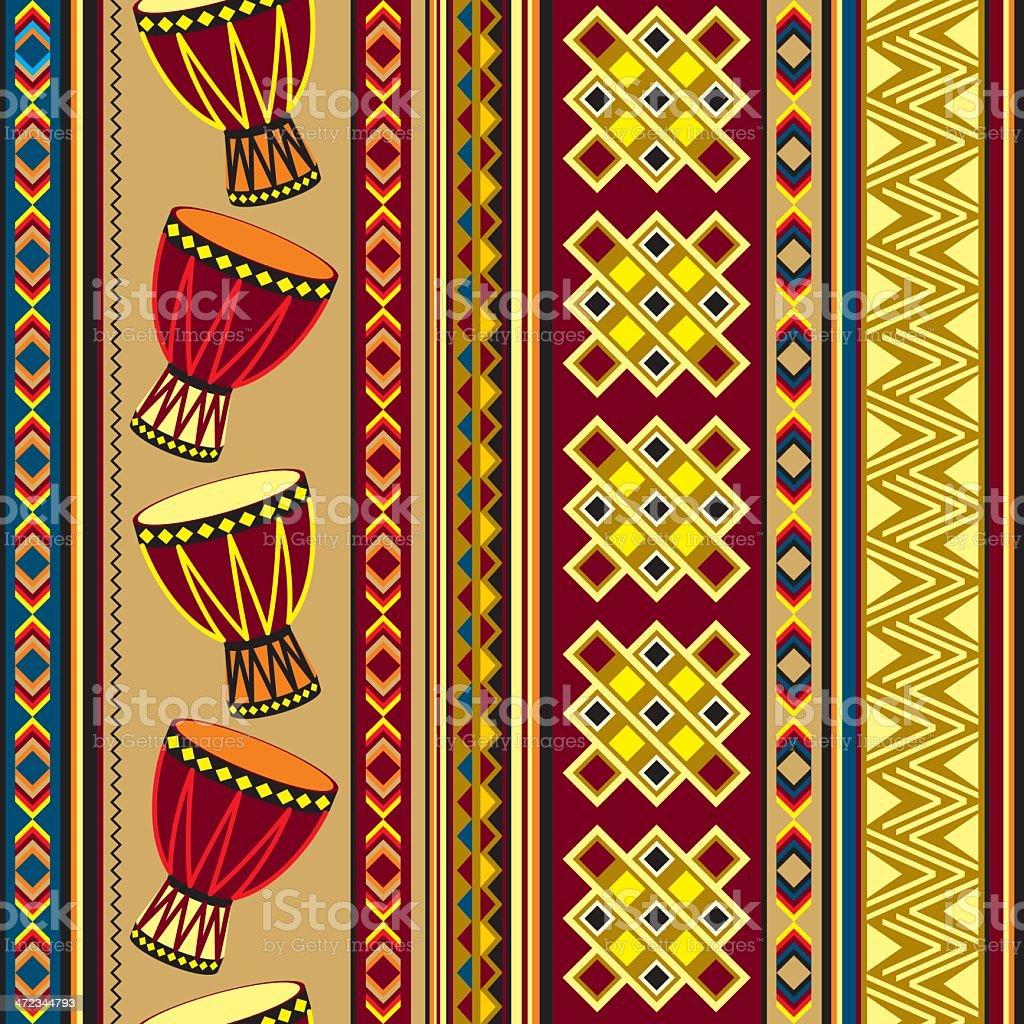 african drum background vector art illustration