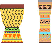African drums vector illustration.