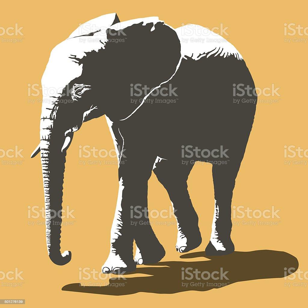 African Elephant royalty-free stock vector art