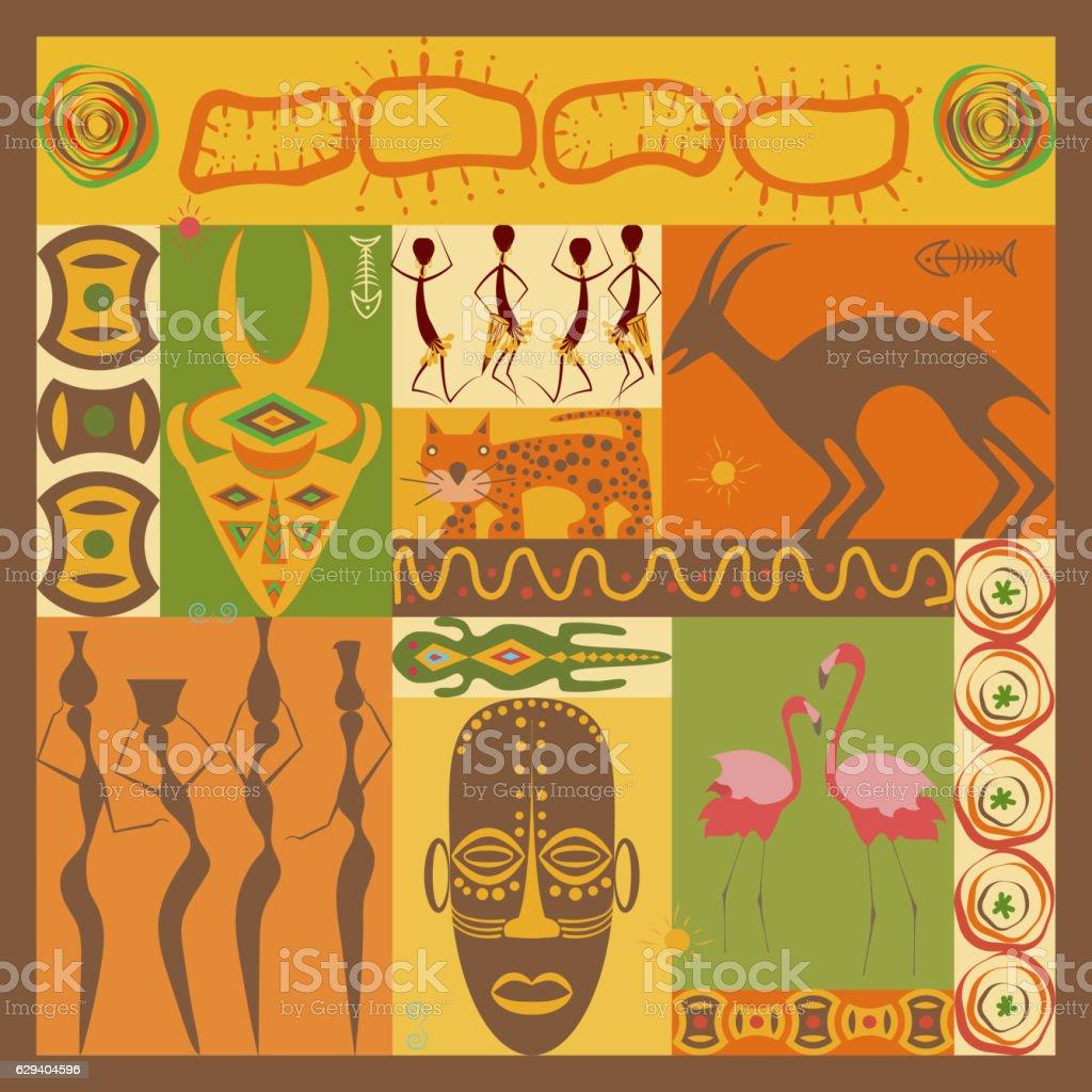 African ethnic illustration vector art illustration