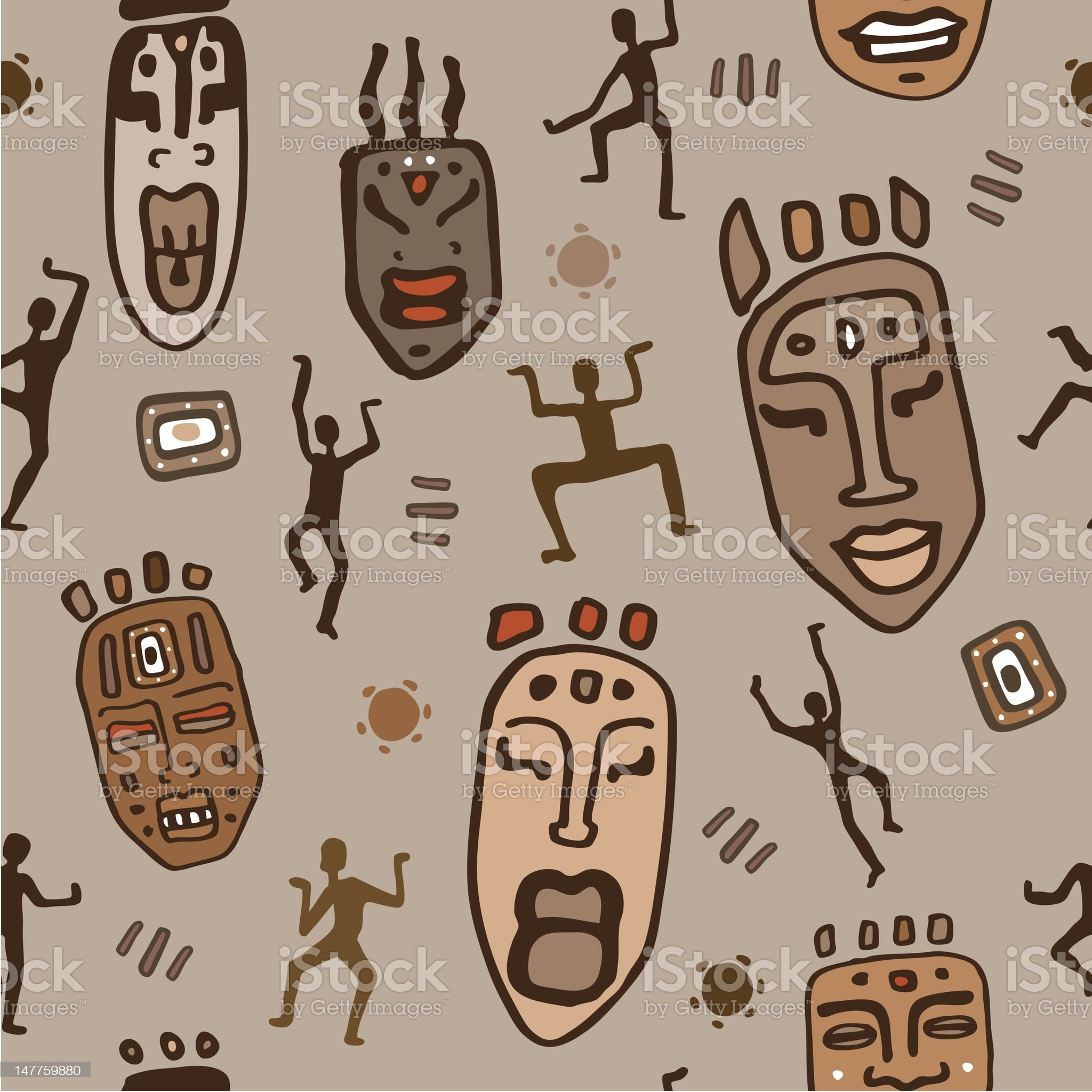 African ethnic pattern royalty-free stock vector art