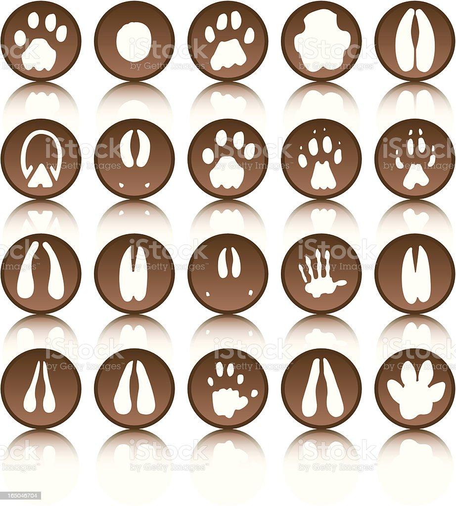 African Foot prints vector art illustration