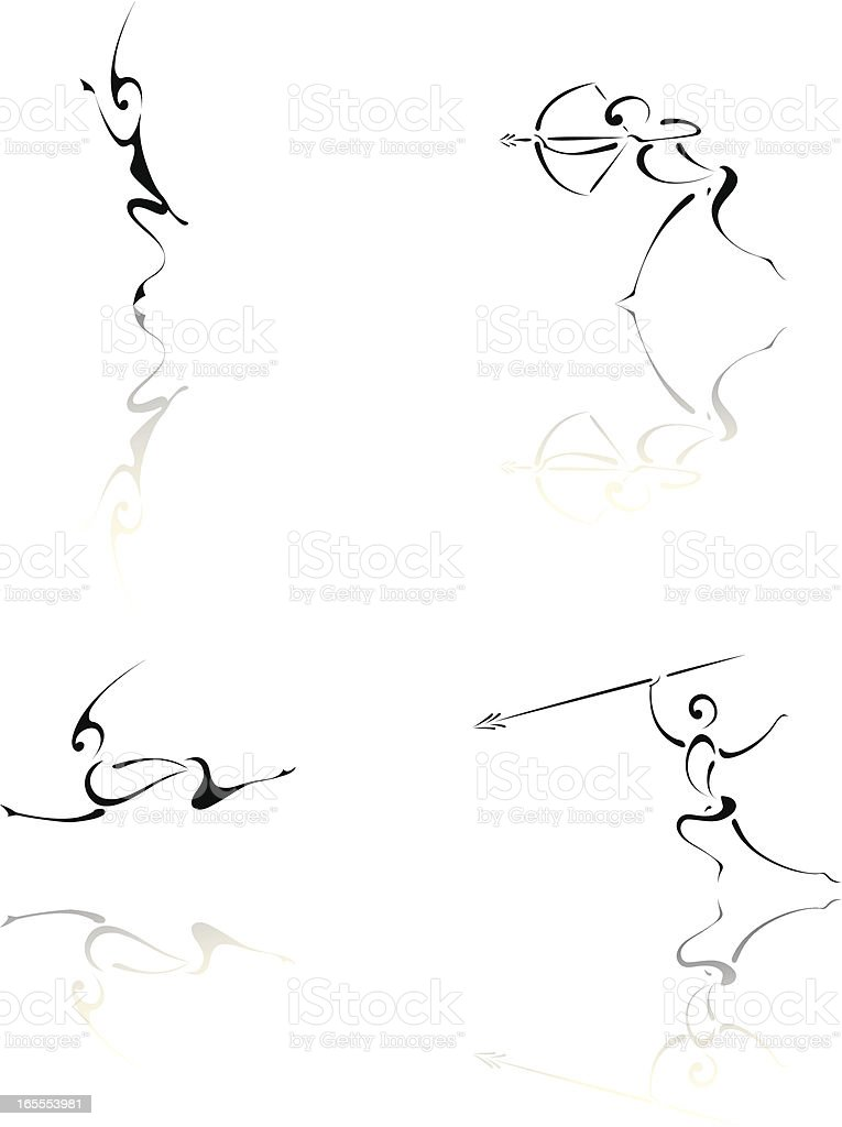 African Hunters. vector art illustration