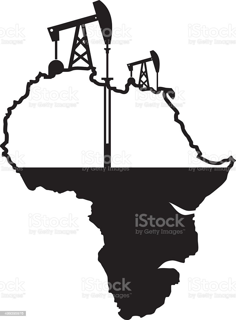 African oil vector art illustration