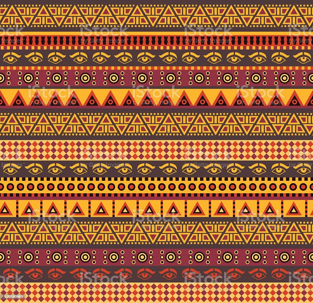 african pattern vector art illustration