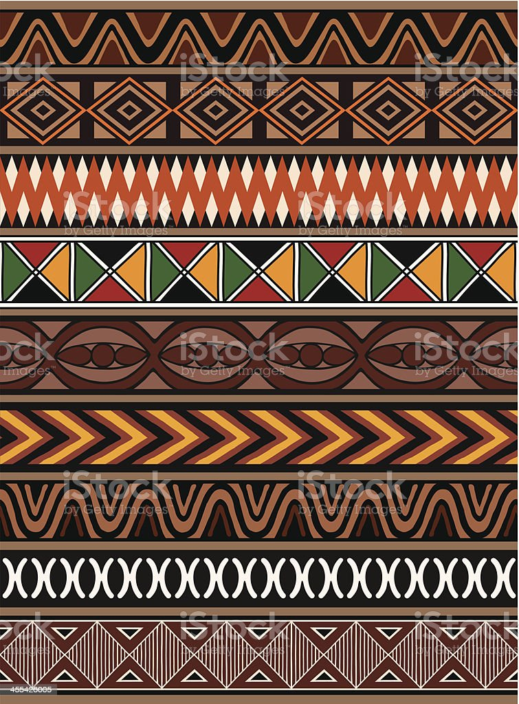 African Patterns vector art illustration