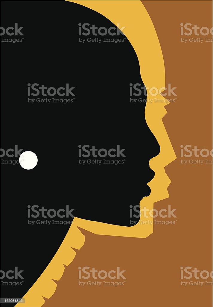 African queen (vector) royalty-free stock vector art