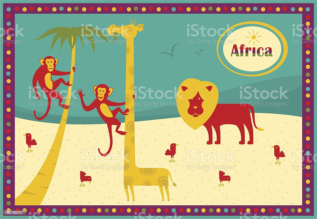 African reserve royalty-free stock vector art