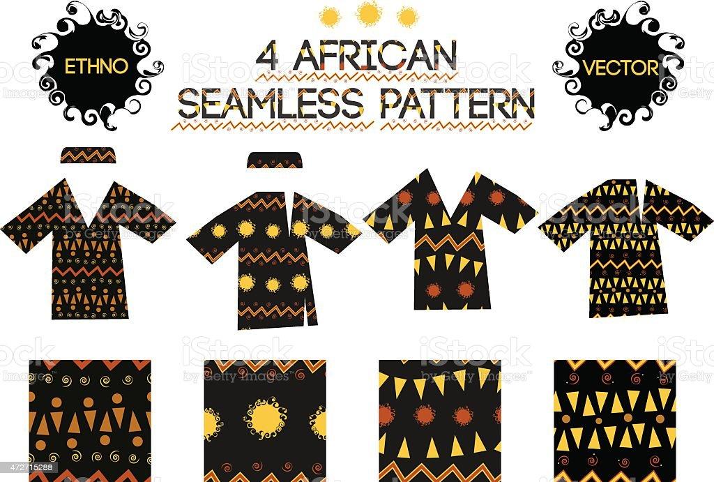 african seamless pattern vector art illustration