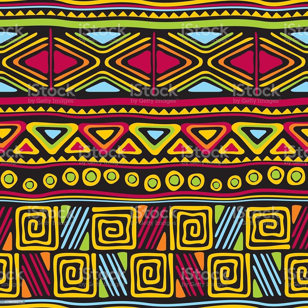 african seamless vector art illustration