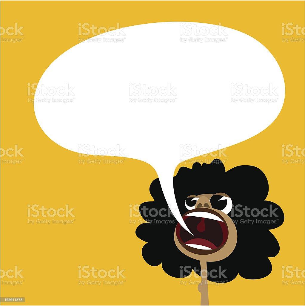 African vector art illustration