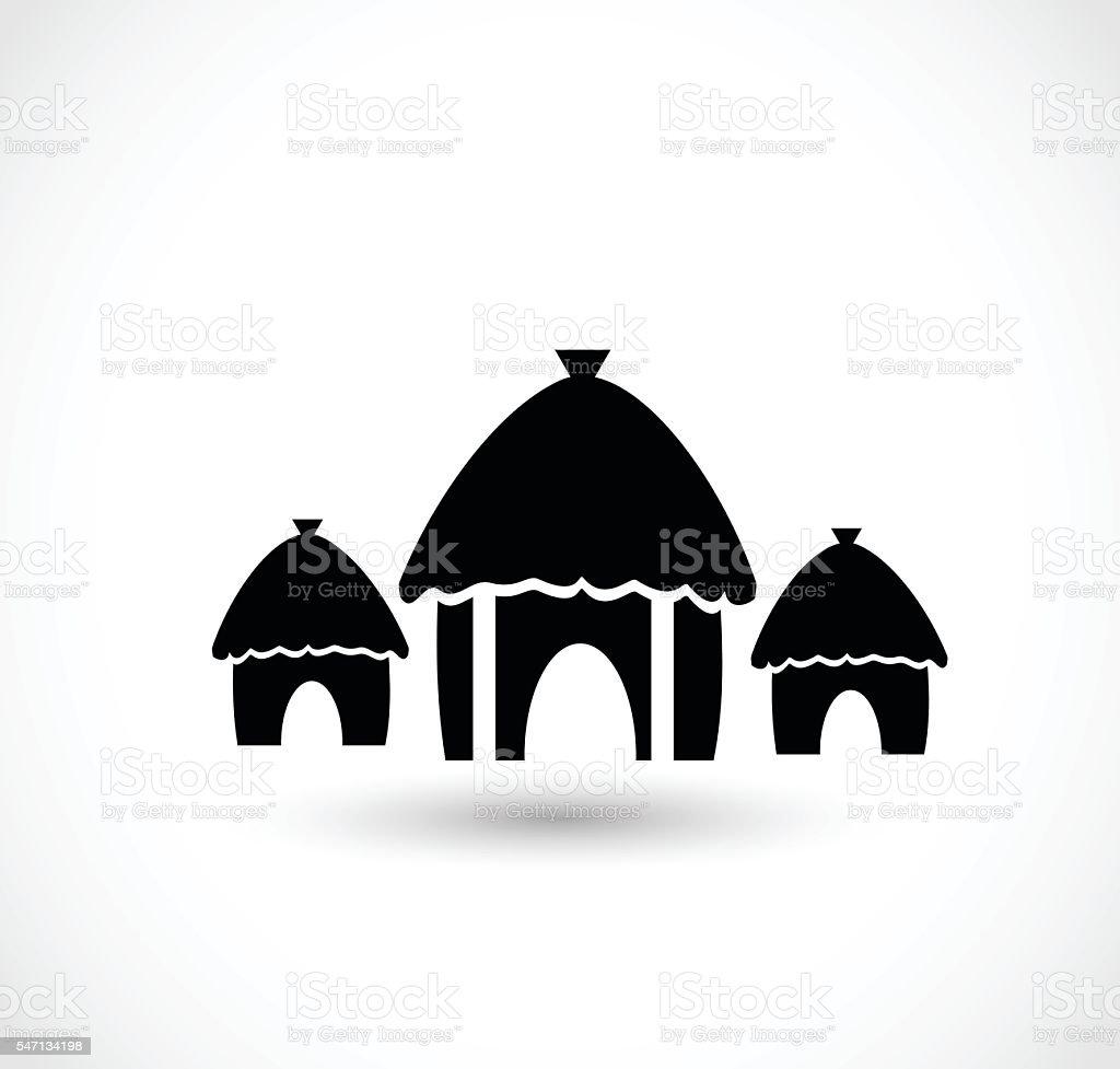African village icon vector illustration vector art illustration