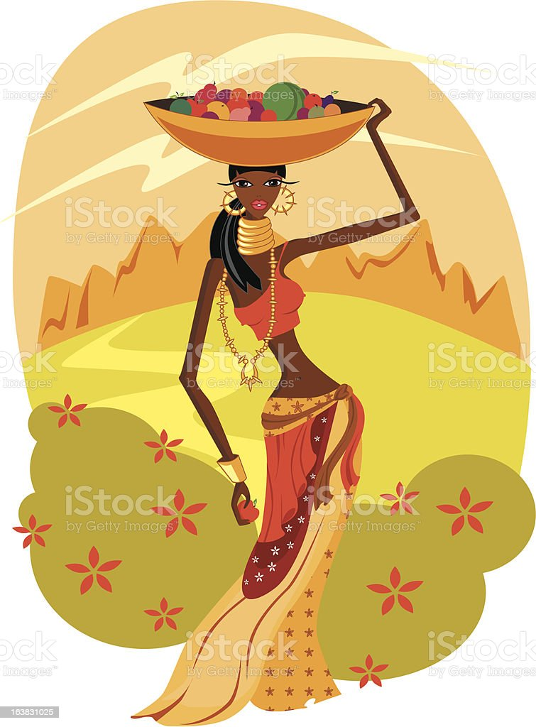 African woman royalty-free stock vector art