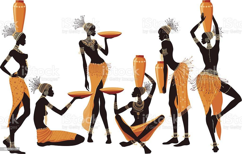 African women royalty-free stock vector art