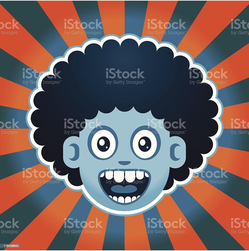 Afro Joy royalty-free stock vector art