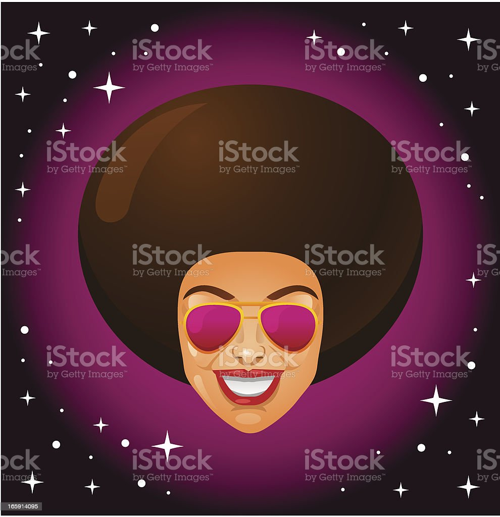 Afro Style Woman royalty-free stock vector art