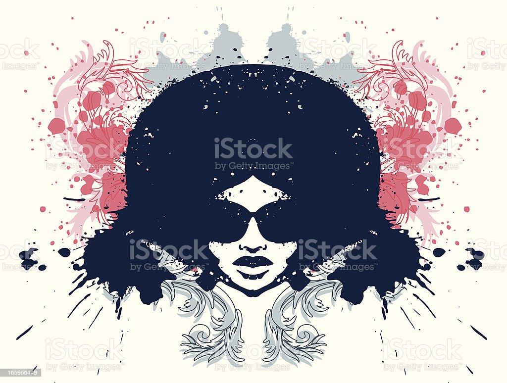 Afro vector art illustration