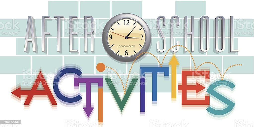 After School Heading vector art illustration
