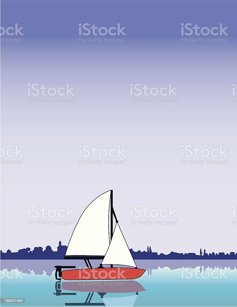 afternoon sail royalty-free stock vector art