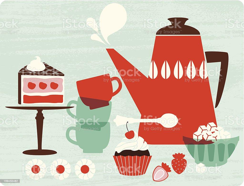 Afternoon tea royalty-free stock vector art