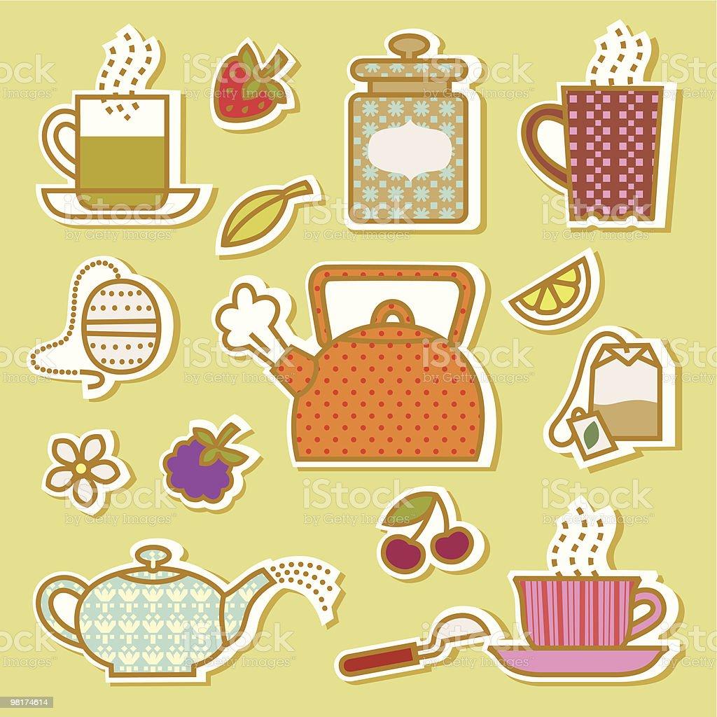 Afternoon Tea. vector art illustration
