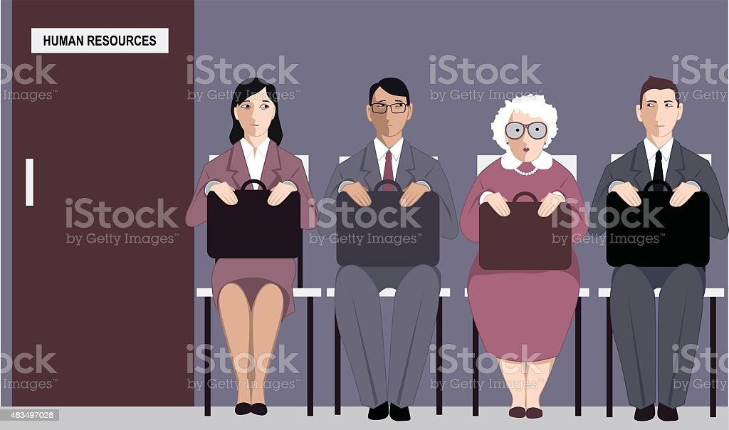 Age and job search vector art illustration