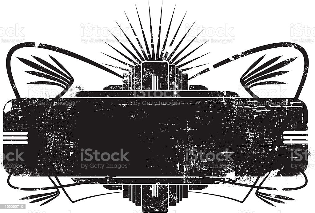 Aged deco banner royalty-free stock vector art