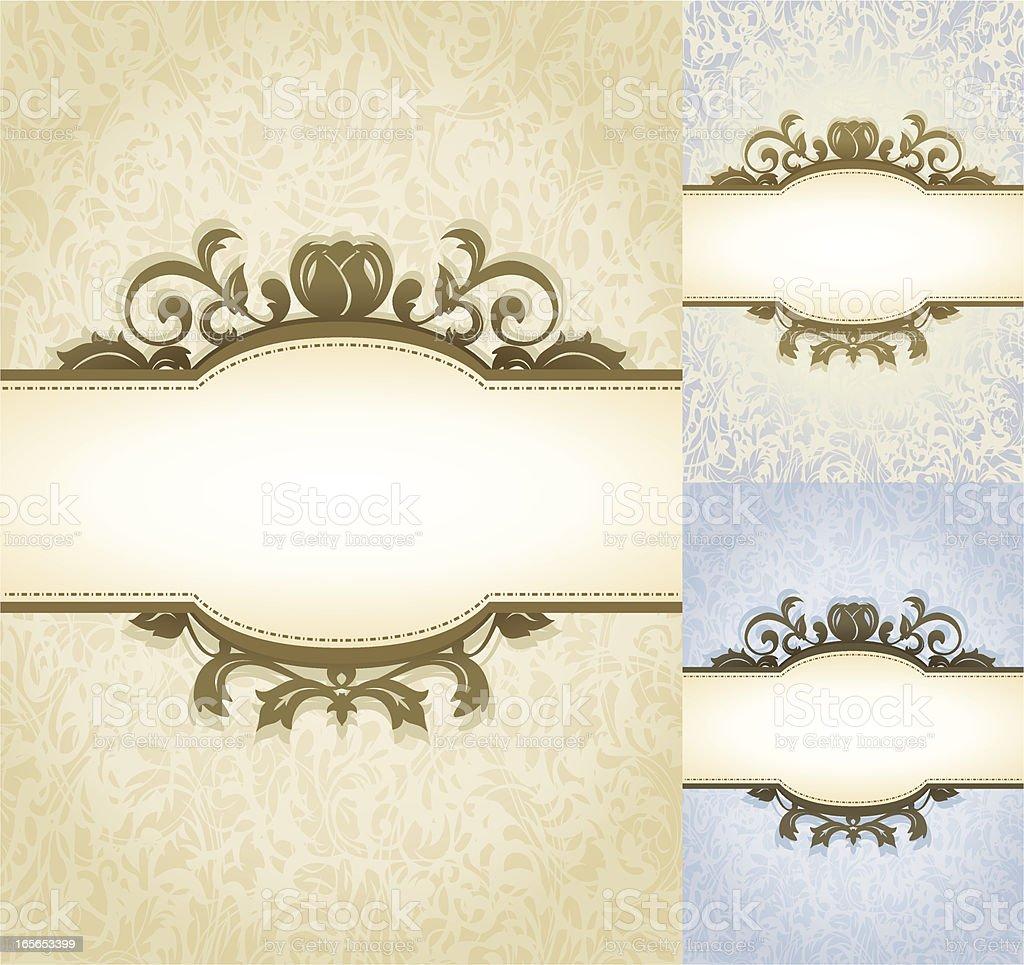 Aged Parchment Royal Background vector art illustration