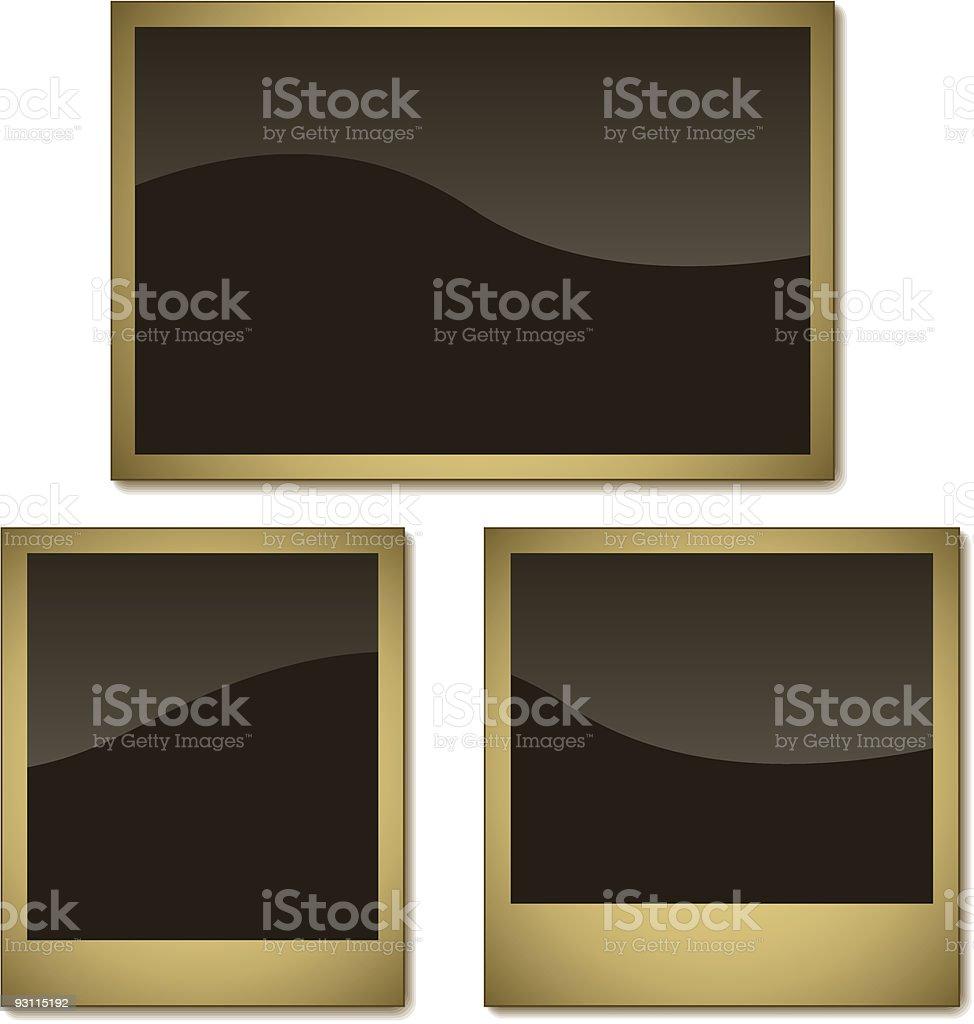 Aged photo frames royalty-free stock vector art