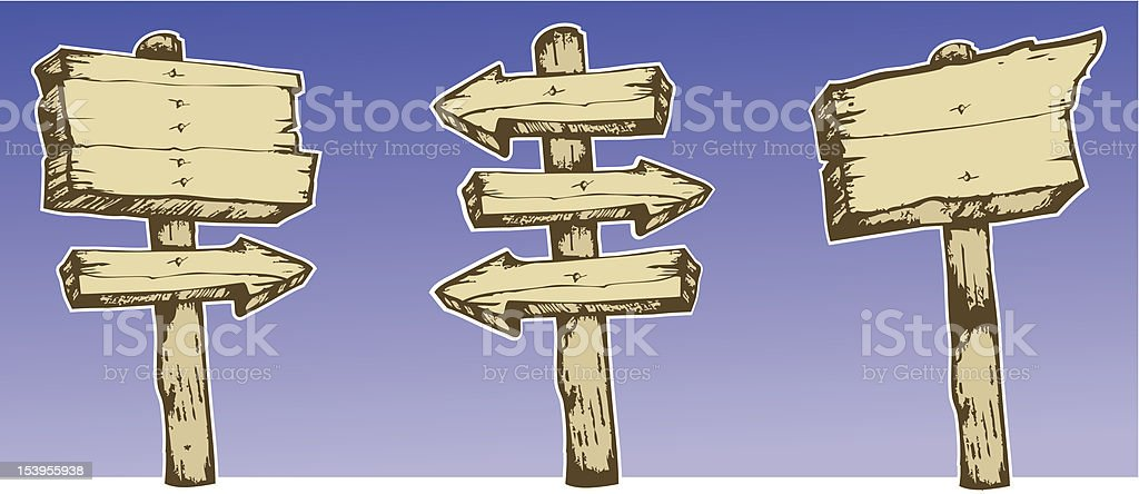 Aged signs royalty-free stock vector art