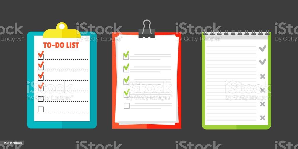 Agenda list concept vector illustration vector art illustration
