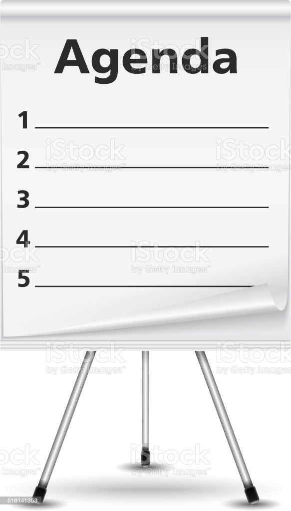 Agenda vector art illustration