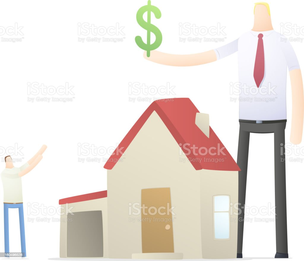 agent increases the rate of credit for real estate royalty-free stock vector art