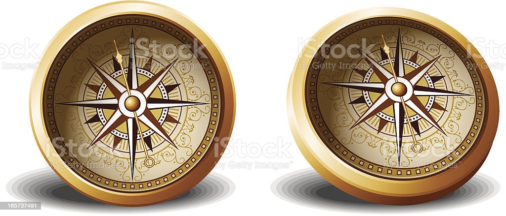 Age-old compass royalty-free stock vector art