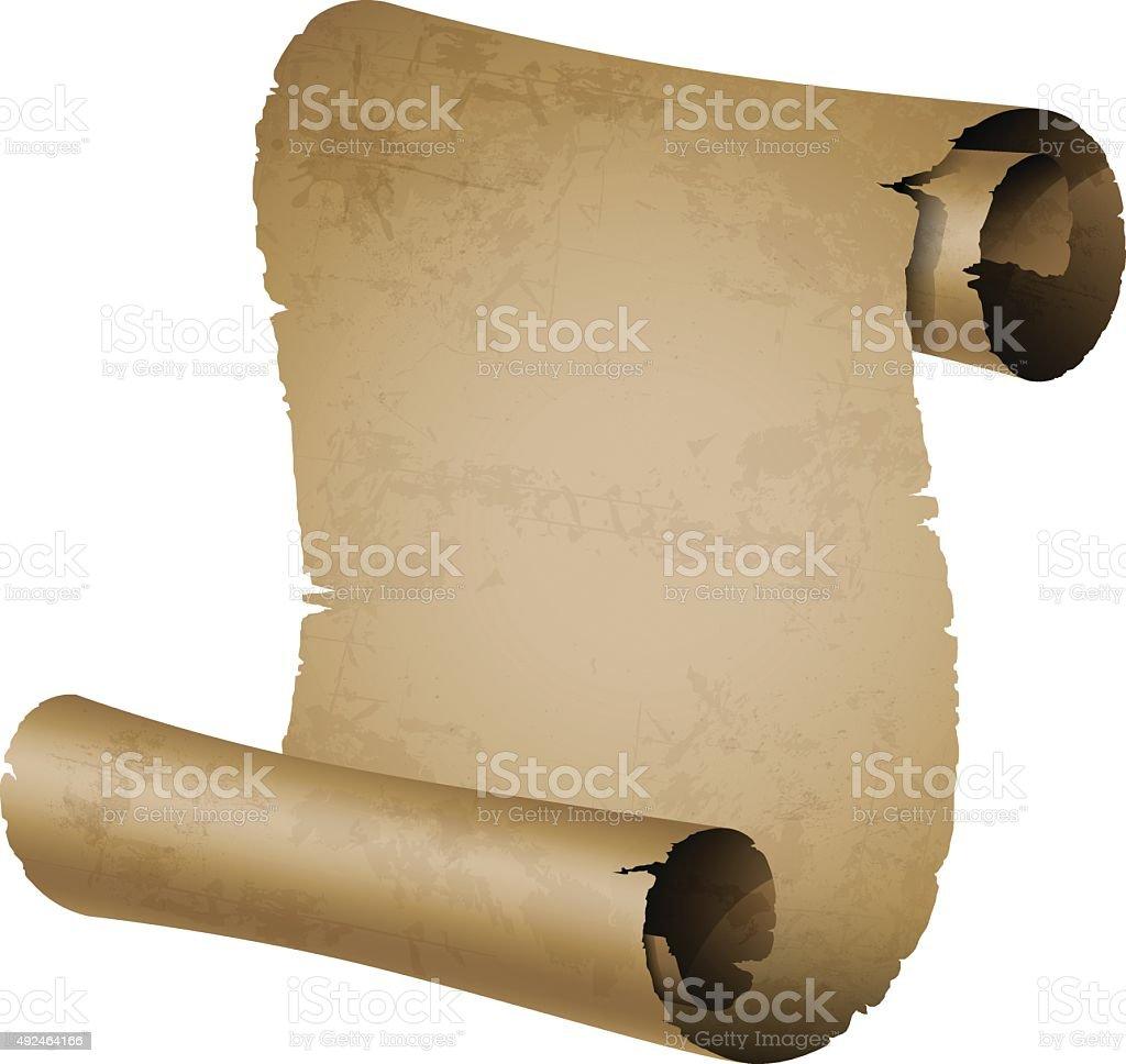 Age-old scroll vector art illustration
