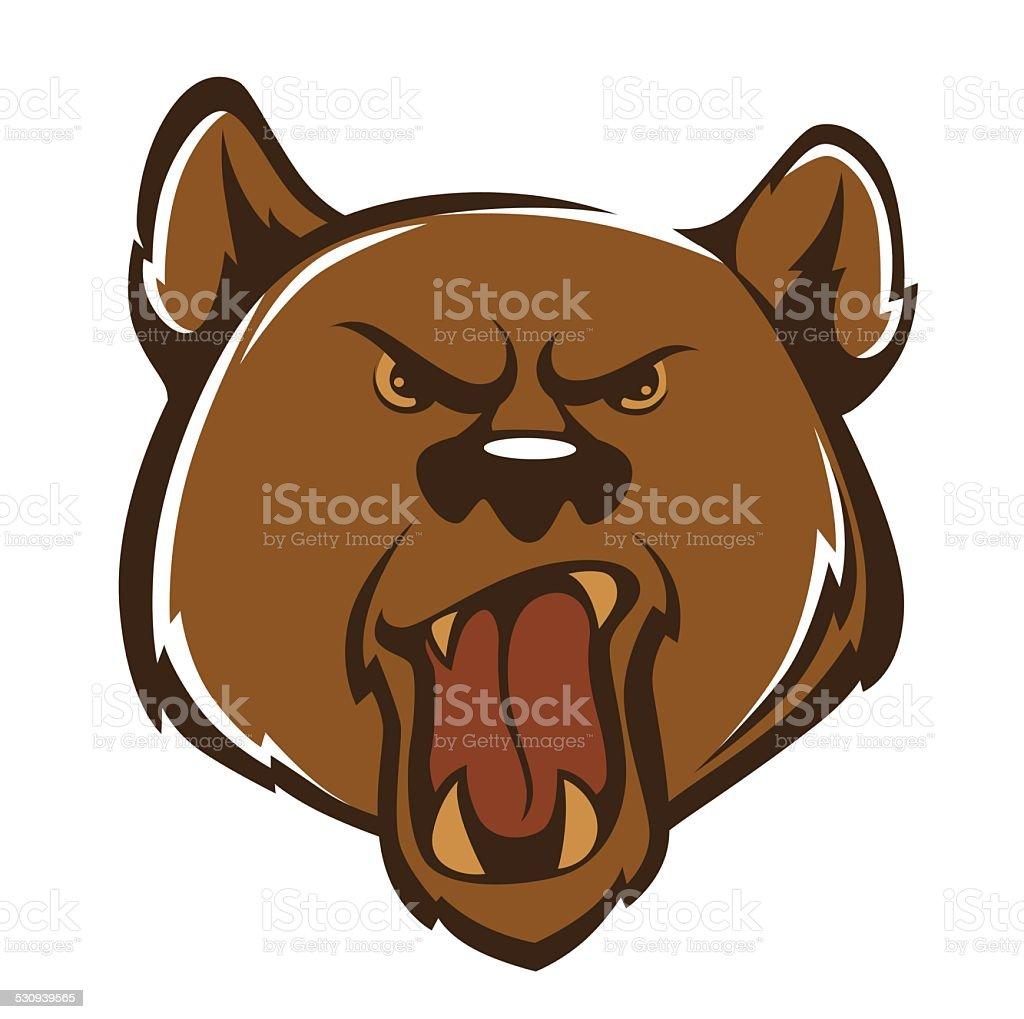 aggressive bear, vector illustration vector art illustration
